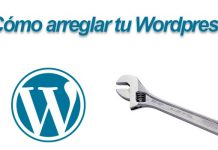 arreglar wordpress