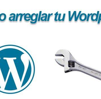 arreglar wordpress